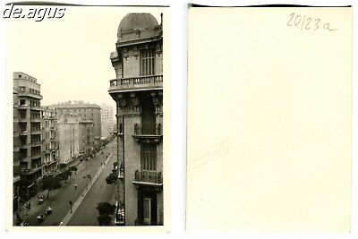 Vintage Photo circa 1950s  view down street looking out window
