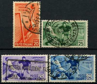 Italy 1934 SG#413-416 World Cup Football 20c-1L25 Used #D75181