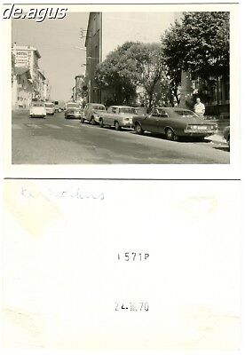 Vintage Photo from 1970 cars,opel car,Citroën 2CV,driving cars