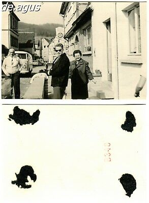 Vintage Photo circa 1960s young Man with sunglasses,vw bulli bus volkswagen