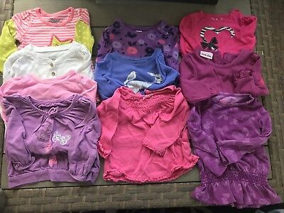 Baby Girls Size 12-18 Months Summer Fall Clothes Lot of 50+ Carters Gymboree Lot