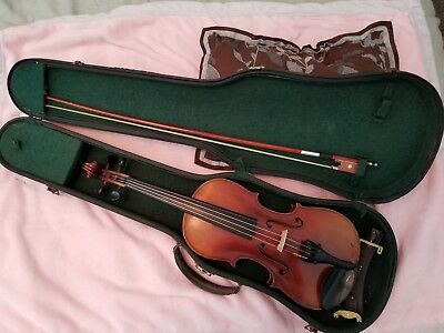 Labeled Andreas Guarnerius 3/4 Violin, Case, Bow, Shoulder Rest, Ready to Play