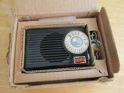 Super Rare 50's Archer Two Transistor Radio