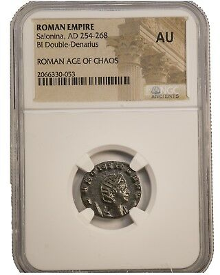 Emporer Salonina, excellent condition Roman coin, 254-268 AD, NGC certified AU
