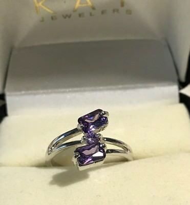 Lilac Tanzanite Ring 10k Over Sterling sz7