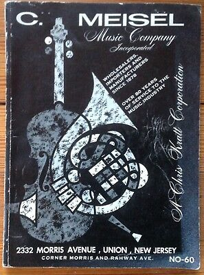 1960 C. MEISEL Music Company full vintage catalog No. 60; 280 pages original