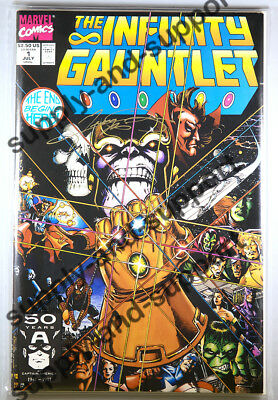 THE INFINITY GAUNTLET # 1 SIGNED BY GEORGE PEREZ with COA and nitrile gloves!