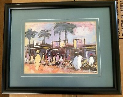 Mixed Media: tropical scene by Louis Aucamp