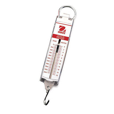 Ohaus 8003-MN Spring Mechanical Scale, Cap. 10N/1000g, Read. 25N/25g