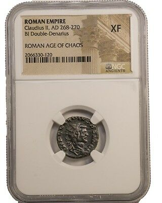 Claudius II Gothicus, great condition Roman coin 268-270 AD.  NGC certified XF