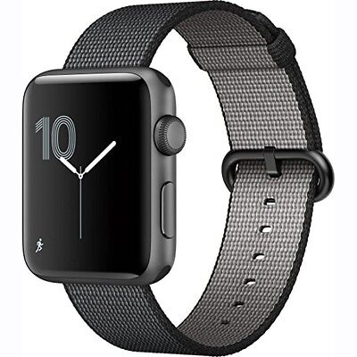 Apple Watch Woven Nylon (Black) 42mm - OEM Genuine Band from Apple Store