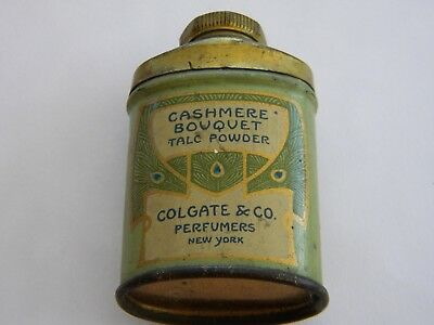 Vintage Colgate Cashmere Bouquet  Talc Powder Tin