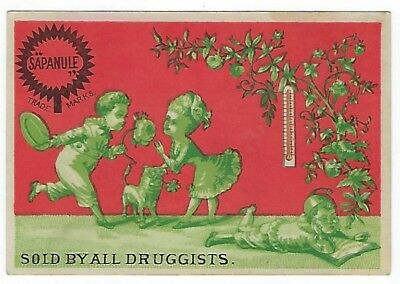 Sapanule Cure late 1800's medicine trade card variation #C (1 of 2)