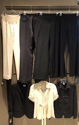 Lot of 7 Professional Maternity Clothes SZ S/M Brand Names