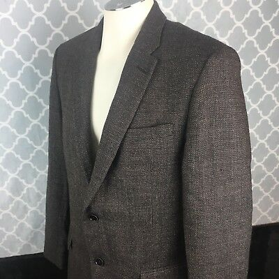 Tommy Hilfiger NEW Brown Mens Size 42 L Two Button Wool Sport Coat