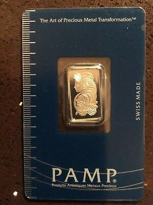 5 Gram Pamp Suisse Platinum Bar In Assay .9995 Fine