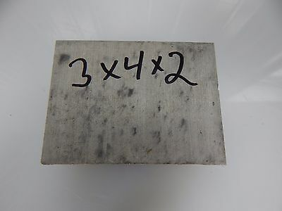 "Aluminum Plate Sheet Block 3""x4""x2"" 6061-T6  3X4X2 Bar"