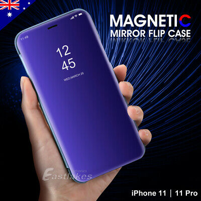 Flip Leather Stand Case Cover Mirror Luxury Magnetic for Apple iPhone X 8 7 Plus