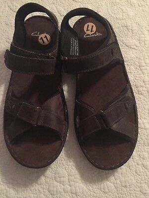 25a577719 CLARKS MENS SANDALS US 11 M Brown Leather NEW WITH TAGS NWT -  24.76 ...