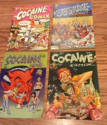 Cocaine Comix: Issues #1,2,3&4 - Underground Comics - All In Very Good Condition