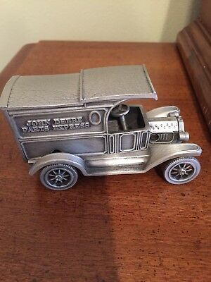 John Deere Pewter Parts Van Spec Cast Toy Limited Edition 1st in Series