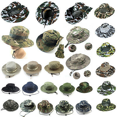 fe0b872d4fb Men Boonie Bucket Hat Sun Snap Cap Camo Military Hunting Fishing Hiking  Outdoor