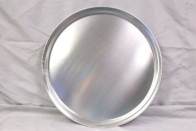 "(1) 16"" PIZZA SERVING TRAY  - Pan - Aluminum - WIDE RIM TRAY Server Cutting"