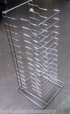 PIZZA PAN RACK 15 Pan Capacity Heavy Chrome Display Storage Screens Deep DIsh