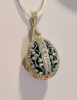 Russian Imperial Court Faberge Guardian Angel egg pendant