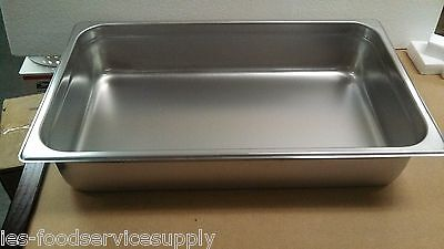 """(Lot Of 6) Full Size 4"""" Deep Stainless Steamtable Pans Hot Food Table Steam Pans"""