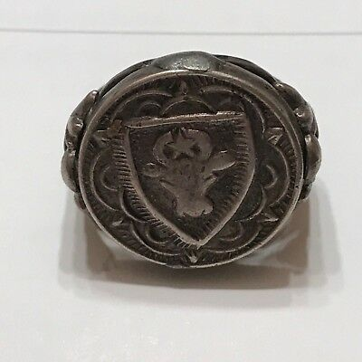 Pair of Romania / Moldova Silver Stamp Seal Rings