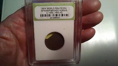 Rare Very Old Ancient Antique Spanish Pirate Era Nice Collection Coin