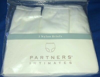 Vintage Partners for Mervyns 3 Pairs of White Shiny SOFT Brief Panties sz 10