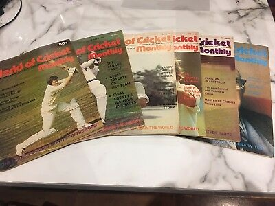 World Of Cricket Monthly Magazines 1976 & 77, 6 Different - Very Good Condition