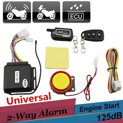 2-Way Alarm Motorcycle Lock Security Alarm 125dB Engine Start Cut Off 12V