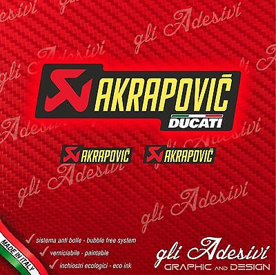 1 AKRAPOVIC DUCATI Sticker resistant heat + 2 small