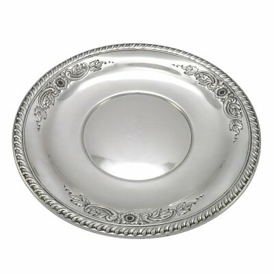 13.25 in - Sterling Silver Wallace Antique Hand Chased Floral Serving Plate