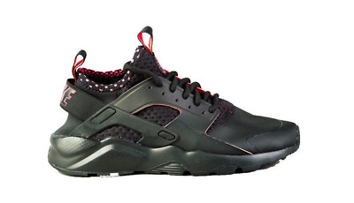 low priced f64af e4c7a hommes Nike Air Huarache Run Ultra soi 875841 005 solaire rouge baskets  noires