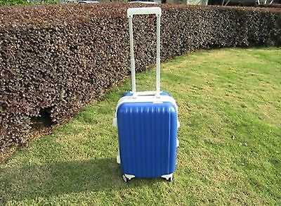 1X 20 Inch Blue Universal Wheel Lock Travel Suitcase Luggage Bag
