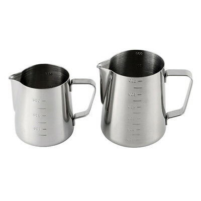 Stainles Steel Espresso Coffee Pitcher Craft Latte Milk Frothing Jug Cup 350/600