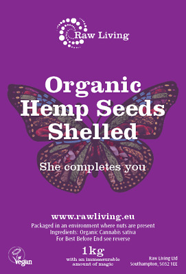 Organic Raw Shelled Hemp Seeds (1kg)