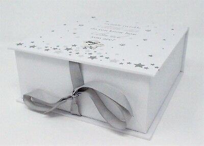 Baby Boy or Girl Keepsake Memory Box Twinkle Twinkle Newborn Christening Gift