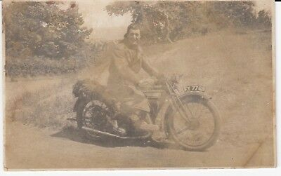 Southport Registered Early Motorcycle Motor Bike & Rider Reg No FY 7769