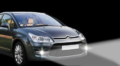 LED Tagfahrlicht + LED Nebelscheinwerfe Citroen C4 Coupe TFL NSW Tagesfahrlicht