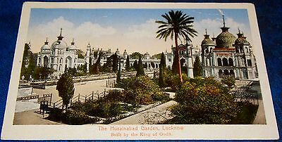 SUPERB POSTCARD HUSAINABAD GARDEN LUCKNOW BUILT BY THE KING OF OUDH c1910-20's
