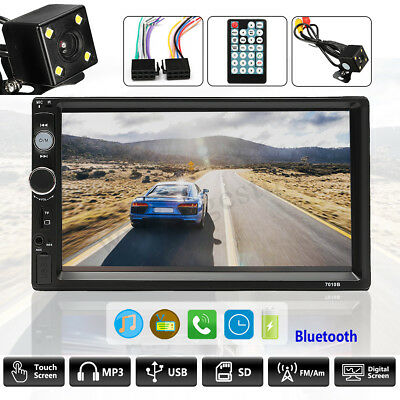 7'' Double 2 Din Touch Car Stereo Radio MP5 MP3 Player Head Unit Bluetooth Radio
