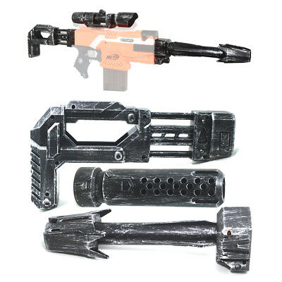 Tactical Scope Sight Attachment Shoulder Stock Combo for Nerf Blaster Modify Toy