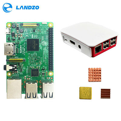 Raspberry Pi 3 Model B Basic Kit Quad Core 1.2GHz & case & heat sink