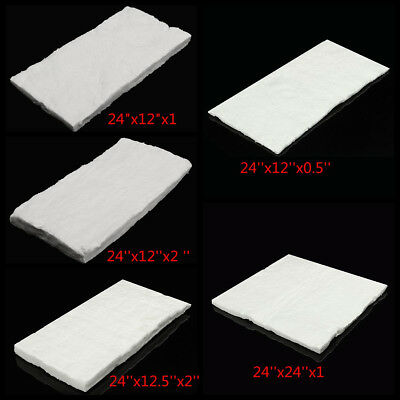 "24""x12"" Ceramic Fiber Wool Blanket Thermal High Temperature Insulation Carpet AU"