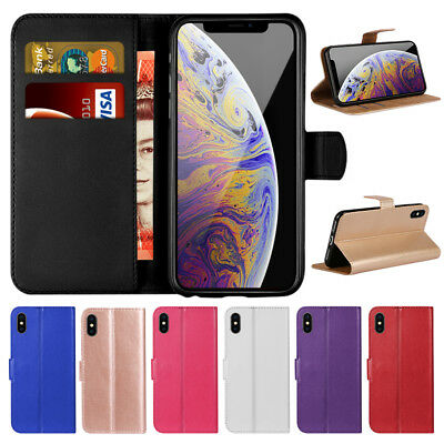 Case for iPhone 5s SE 6 7 8 Plus XS Max Flip Wallet Leather Cover Magntic Luxury